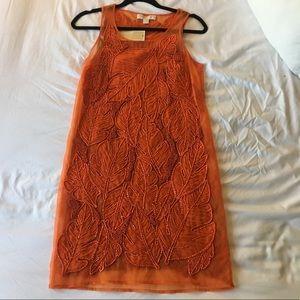 MICHAEL Michael Kors Palm Leaf Applique Dress